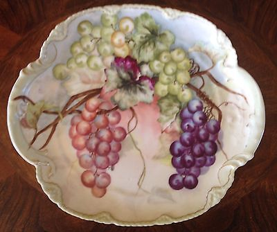 Theo Haviland Limoges France Plate Hand Painted Grapes 1893 - 1894