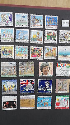 A223   AUSTRALIA   Collection of 1988  Fine Used  Stamps  CV £19.40
