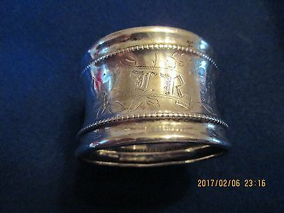 Antique Sterling Silver Napkin Ring,3 Hallmarks, 14 Grams