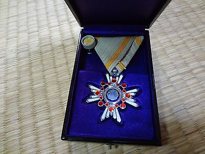 Japanese Order of the Sacred Treasure 6rd Medal Japan WWII WW2 badge army navy 5