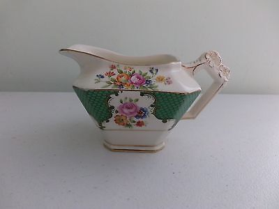 Vintage Milk / Cream Jug  Floral With Gold Trims  Perfect Condition