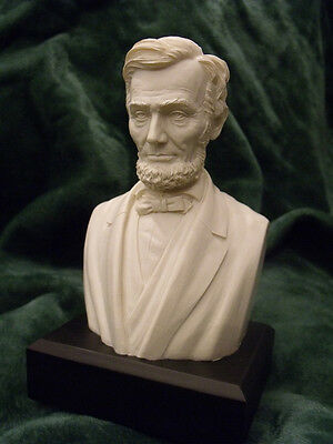 "Abraham Lincoln -  Bust / Statue : NEW IN BOX  6"" High / WHITE"