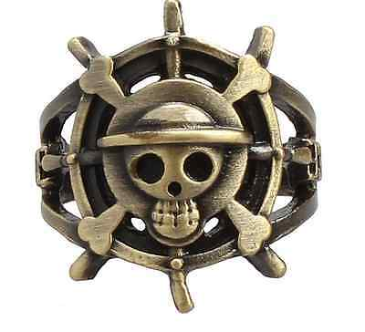 ONE PIECE MONKEY D LUFFY Pirate Flag Metal Cosplay ring Pendant Hot