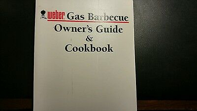 Weber GENESIS 1000 Series Gas Barbecue Grill Manual/Cookbook used but complete