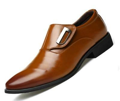 new mens pointed toe England business shoes dress shoes oxfords Brown US size 9