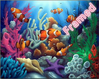 Framed 40*50CM Painting by Number Kit Colorful Fish S5 ART DIY F009 AU STOCK
