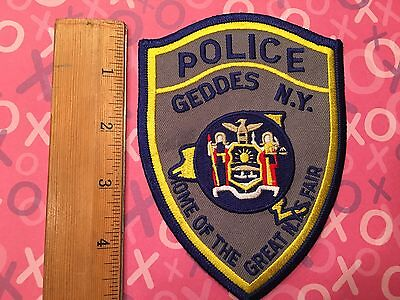 NY STATE FAIR Geddes Police Patch NEW YORK