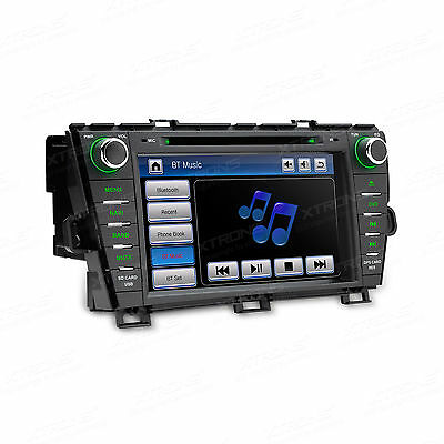 "GPS Stereo 8"" Car DVD Player Screen Mirroring/Bluetooth/Sat Nav for Toyota Prius"