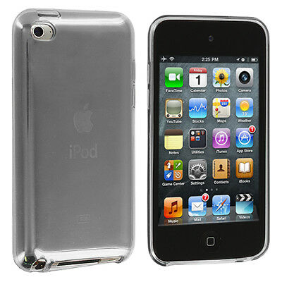 Clear TPU Rubber Skin Case Cover Accessory for iPod Touch 4th Gen 4G 4