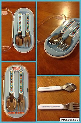 2005 Thomas The Train Spoon and Fork Set w/ Case Pecoware Stainless Steel
