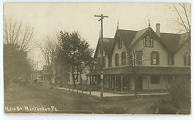 RPPC Hotel Wenzel Main St MONTANDON PA Northumberland County Real Photo Postcard