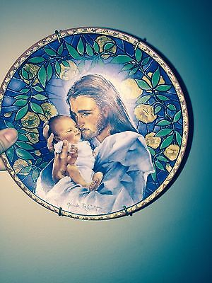 The Everlasting Father 8 inch Knowles Decorative Plate with Jesus Christ