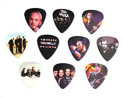 Coldplay Guitar Picks 10 Lot Set New Double Sided Image Picture Free Shipping