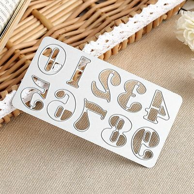 Metal Decoration Cutting Dies Stencil Number Embossing Scrapbooking