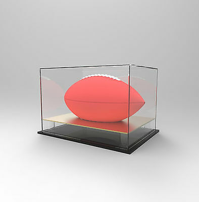 Gridiron/NFL Football Deluxe Display Case - Competition/Autographed Ball - GOLD