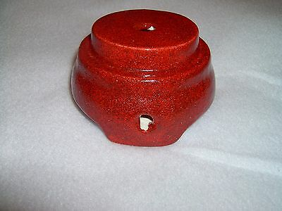 Ceramic tree base red shimmers