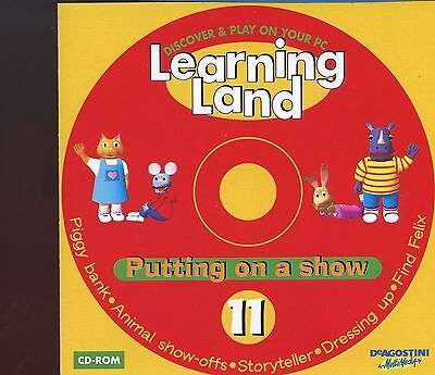Learning Land PC CD Rom / No.11 - Putting On A Show - MINT
