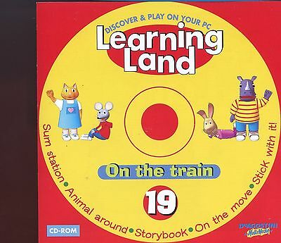 Learning Land PC CD Rom / No.19 - On The Train - MINT