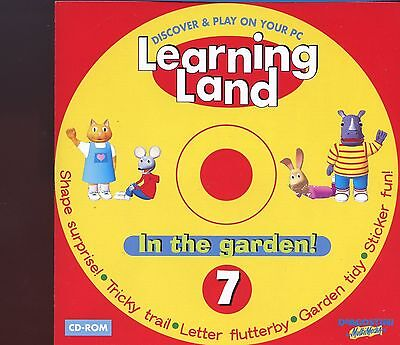 Learning Land PC CD Rom / No.7 - In The Garden