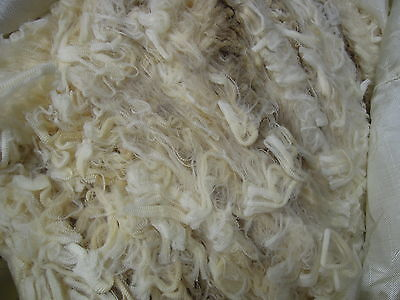 Fleece Raw Sheep wool. 450gm White Merino long staple.Spin Felt
