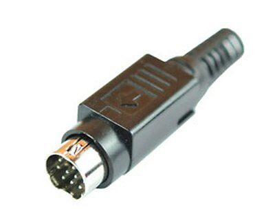 10 PIN MINI DIN Connector / Plug solder type on cable High Quality