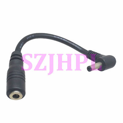 DC Power Jack 3.5x1.35mm Female to Male Right Angle Plug Camera Extension Cable