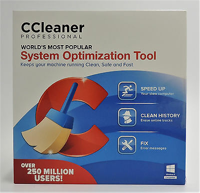Piriform CCleaner Professional 1 PC Brand New Factory Sealed