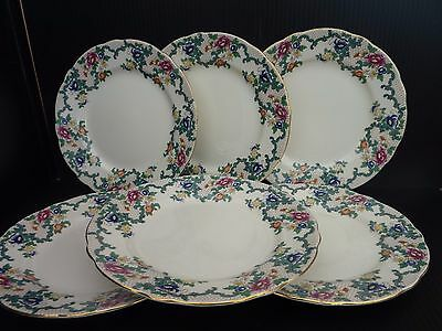 Royal Cauldon Victoria China Plates Shabby Chic Beautiful Pretty Set