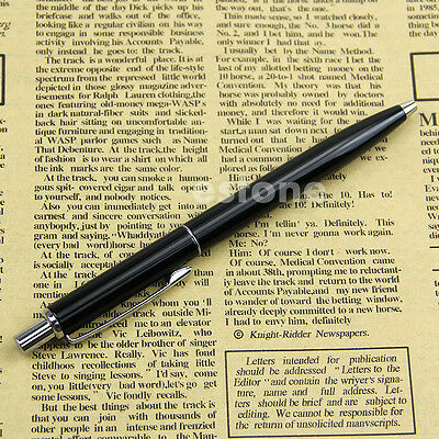 BAOER 37 Stainless Steel Push Ball Point Pen New