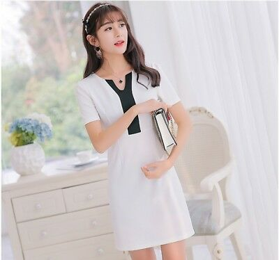 31552f3d1e Charming 2018 Korean Style V-neck Slim Casual Sim Waist Women Summer Shirt  Dress