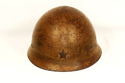 WW2 Japanese Army Helmet Type 90 with Orig Liner Military from Japan #074