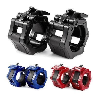 Pair 50mm Lock Jaw Collars Olympic Barbells Clamps Bar Lockjaw 2' Black Blue Red