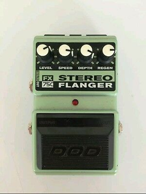 90S DOD USA FX75c STEREO FLANGER PEDAL FREE USA shipping analog classic