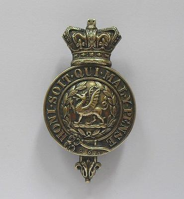 British Army Cap Badge. The South Wales Borderers Glengarry.