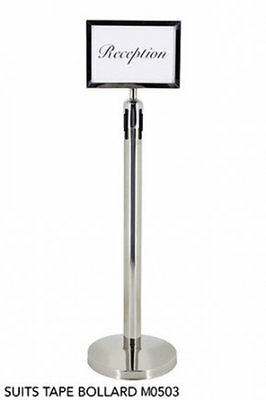 Stainless Steel A4 Sign Holder and Bollard Stand