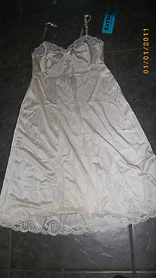"Kayser"" Full Slip-Bnwt!-Aussie Made.lace Trim& Panels.size 14.ribbon Strap.l"