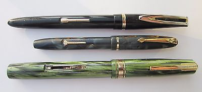 3 Conway Stewart & Waterman F/pens For Spares/repair.  N/res