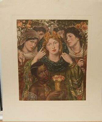 Individually Printed Hand Coloured Pre-Raphaelite Print: The Beloved by Rossetti
