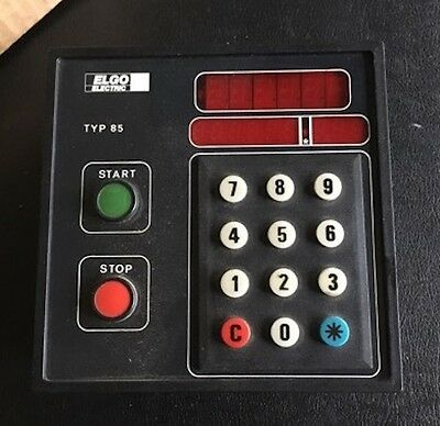 ELGO ELECTRIC Type 85 Positioning control