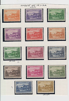 NORFOLK ISLAND  1947 SET OF 14 Mint Lightly Hinged S.G.1-12a
