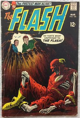 Flash #186 (DC 1969 1st series) 47 years old. VG/FN condition. Silver Age.