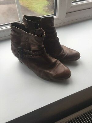 Gabor Tan Ankle Boots Size 6
