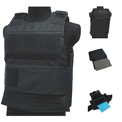 Tactical Wargame AirSoft Paintball BB Bulletproof Armour Plate Stab Proof Vest S