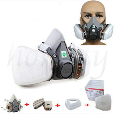 Hot 7 in 1 Half Face Gas Mask Respirator Painting Spraying For 3M 6200 Gas Mask