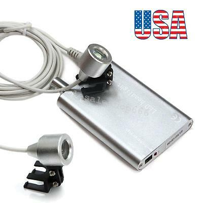 USA STOCK LED Head Light Lamp Rechargeable Lithium Battery for Dental Loupes Lab