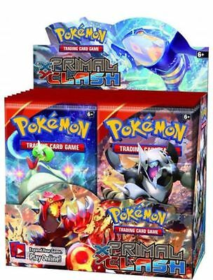 3 x Pokemon XY Primal Clash Booster Packs  [Brand new sealed]