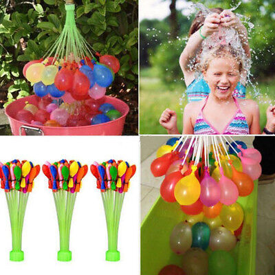 111PCS Balloons Minute 3 Packs Magic Balloons Water Bunch Already Tied Kids Toys