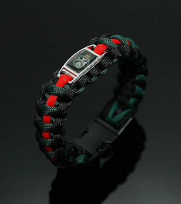 The Royal Green Jackets Badged 550 Paracord Bracelet