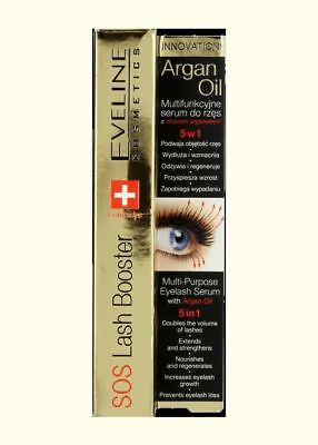 Eveline SOS Lash Booster 5in1 10ml Eyelashes Conditioner with Argan Oil