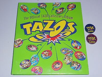 1990s Official Tazo Collectors Folder Complete with 6 Sets + 2 Slammers